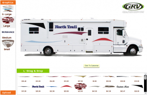 This is exactly what you will see when clicking on the RV customizer.