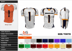 Here is an example of the NeoSports customization tool.