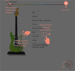 Screenshot of SmartMobile UI w Instructions - Autonomy